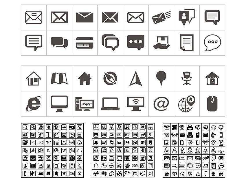 名片设计常用小图标素材下载